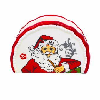 Merry & Bright Collectible Christmas Santa Tissue Holder - 3