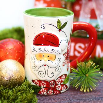 Merry & Bright Collectible Santa Claus Noel Big Christmas Mug