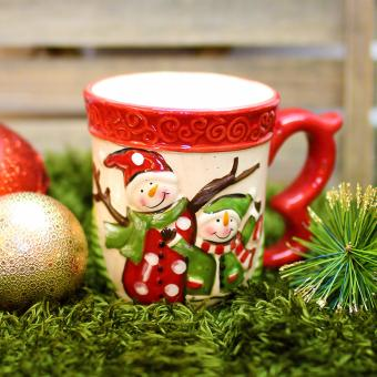 Merry & Bright Collectible Two Happy Kid Christmas Mug