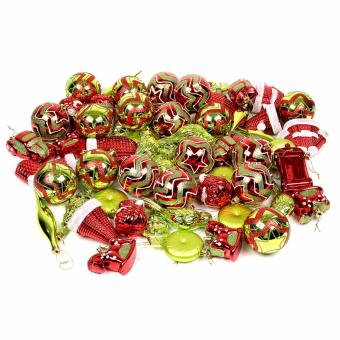 Merry & Bright Festive Vintage Style Christmas Ball OrnamentSet