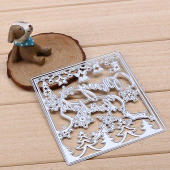 Merry Christmas Cutting Dies Stencil For DIY Scrapbook Album Paper Card - intl - picture 2