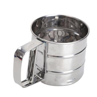 Mesh Flour Bolt Sifter Manual Sugar Icing Shaker Stainless SteelCup Shape - intl - 5