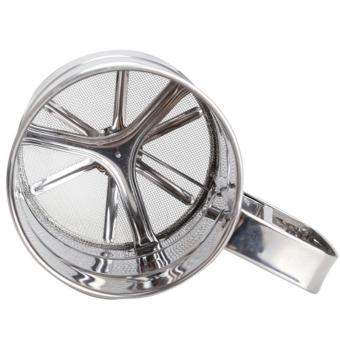 Mesh Flour Bolt Sifter Manual Sugar Icing Shaker Stainless SteelCup Shape - intl - 3
