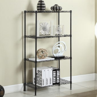 Metal floor organizing rack shelf