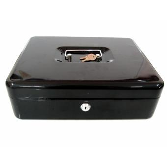 Metal Petty Cash Box with Handle 20cmx25cm Change Desposit MoneyHolder Home Security