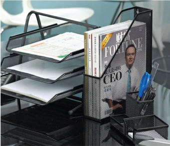 Metal three plate data frame three layer file Tray