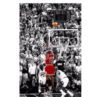 Michael Jordan Last Shot (Portrait) 14x20 inches Poster
