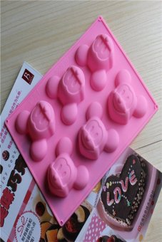 Micky Mouse Bakeware Silicone Baking Molds for Chocolate Cake Jelly(Random Colors) Price Philippines