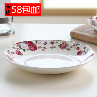 Microwave lead-free bone china porcelain Square Plate