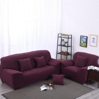 Mile High Elasticity Anti-mite Wine Red Chair Covers Sofa CoverSlipcover Couch 2 Seater - intl Price Philippines