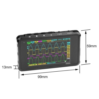 Mini 4-CH USB Rechargeable Digital Oscilloscope Color TFT LCD 8MBMemory 72MS/s Ferrous Metal - intl - 2