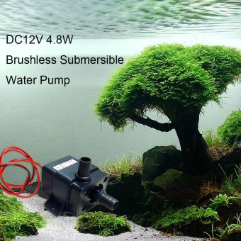 Mini Brushless Submersible Water Pump for Fish Tank Aquarium Fountain Flowerpot Fish Tank Aquarium Accessory 4.8W DC12V - intl ...