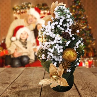 Mini Christmas Tree Festival Party Ornaments Xmas Decoration 2 -intl - 2