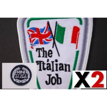 Mini Cooper Italian Job Vintage Embroidered Cloth Patch (Get 2)