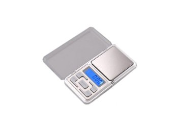Mini Electronic Digital Jewelry Weighing Scale (Silver)