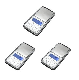 Mini Electronic Digital Jewelry Weighing Scale (Silver) Set of 3 Price Philippines