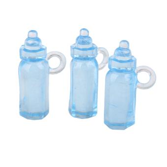 Mini Feeding Bottle Christening Baby Shower Favors Party Decor 24pcs Blue - 4