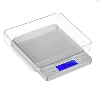 Mini Kitchen Scale Digital Pocket Scale (500g/ 0.01g) with 2 Trays High-precision Jewelry Weighing Coin Food Mini Scales LCD Display - intl