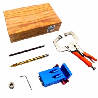 Mini Kreg Style Pocket Hole Jig Kit System For Wood Working &Joinery + Step Drill Bit + Pliers Wood Work Tool Set With Box -intl