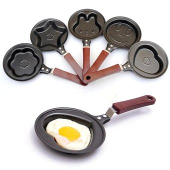Mini Non Stick Frying Pan 12cm Set of 5 (Heart, Smiley, Bunny,Star, Flower)
