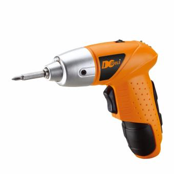 Mini Portable Electric Drill Cordless Screwdriver 45pcs Tools (Orange) - 2