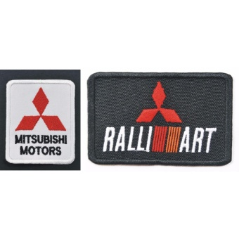 Mitsubishi Ralliart Cloth Patch & Badge Set (Get 2)