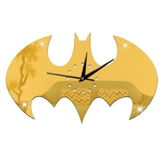 Modern Creative Batman Decorations Bedroom Home Time Retro Wall Clock Quartz - intl