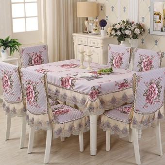 Modern dining chair cushion European stool sets tablecloth chair cover
