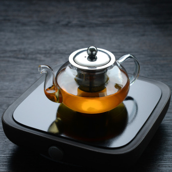 Modern heat-resistant high-temperature filter glass teapot