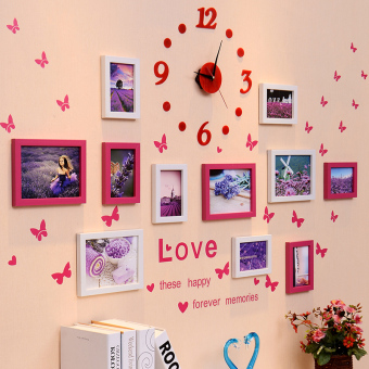 Modern Jianyue combination living room photo wall