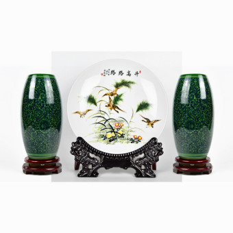 Modern Jianyue living room flower arrangement Jingde Town porcelain ceramic vase