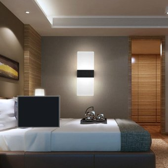 Modern led acryl wall lamp 110V 220V 8W bedroom bedside light foyerstudy decoration Sconce - intl - 5