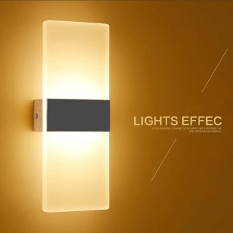 Modern led acryl wall lamp 110V 220V 8W bedroom bedside light foyerstudy decoration Sconce - intl