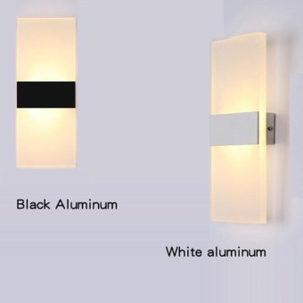 Modern led acryl wall lamp 110V 220V 8W bedroom bedside light foyerstudy decoration Sconce - intl - 2