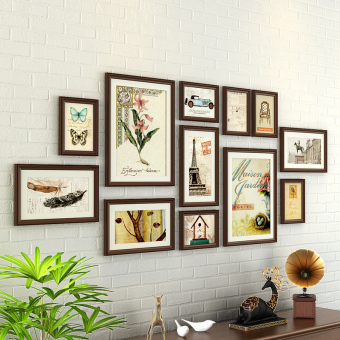 Modern minimalist combination wall frame photo wall