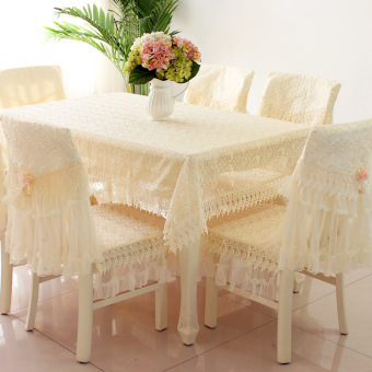 Modern pastoral lace table cloth dining table cloth