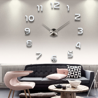 Modern Simple Style DIY Large 3D Wall Sticker Time Clock for Home Office Decoration
