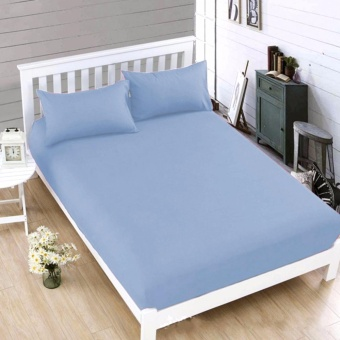 MODERN SPACE High Quality Bedsheet Double Size With FREE Two PillowCases (Blue) Price Philippines
