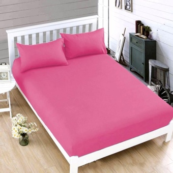 MODERN SPACE High Quality Bedsheet Double Size With FREE Two PillowCases (Fuchsia) Price Philippines
