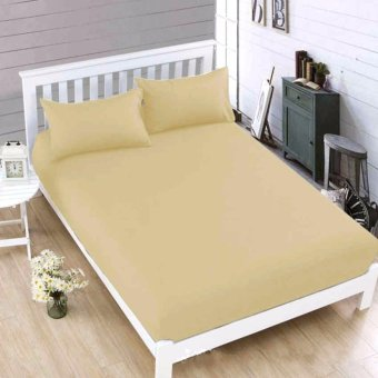MODERN SPACE High Quality Bedsheet Single Size With FREE Two PillowCases (Beige) Price Philippines