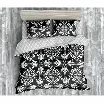 MODERN SPACE High Quality Fitted Bedsheet Queen Size With FREE Two Pillow Cases Okir Printed Design