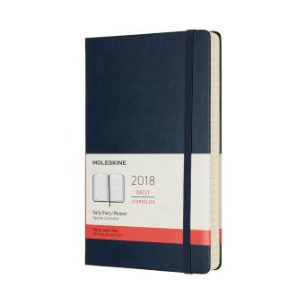 Moleskine 12M 2018 Daily Hard Cover Large Planner (Sapphire Blue)