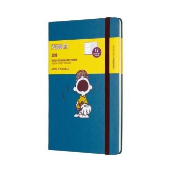 Moleskine 12M 2018 Limited Edition Peanuts Weekly Notebook LargePlanner (Charlie)