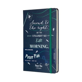 Moleskine Limited Edition Peter Pan Large Ruled Notebook (SapphireBlue)