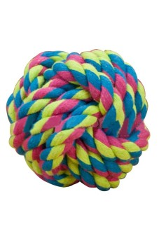 Moonar Pet Dog Cat Entertainment Rolling Cotton Rope Play Ball - picture 2