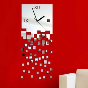 MOSAIC Pattern Sticker DIY Mirror Wall Clock Wall Sticker HomeDecoration - intl