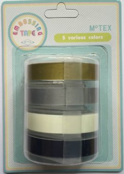 Motex 2 Embossing Tapes, Set of 4