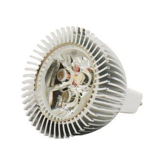 MR16 3W 3500K 270-Lumen 3-LED Strip Warm White Light Bulb (12V Voltage)