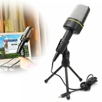 MSN Skype Singing Recording 3.5 mm Condenser Microphone Mic for PC Laptop Tripod