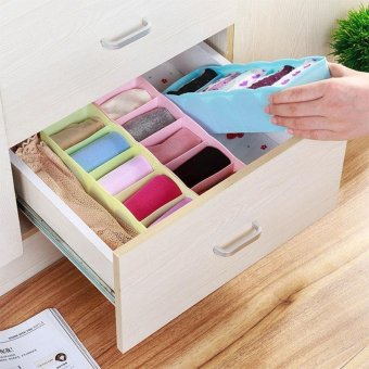 Multi-function Storage Box Clothing Organizer Underwear Socks BraTies Desktop Drawer - intl